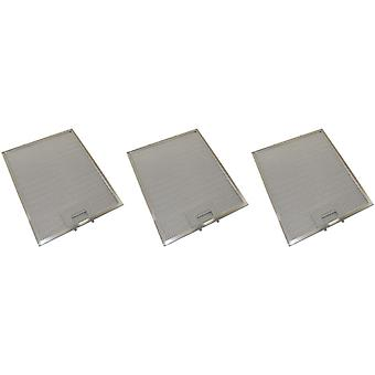 3 x Universal Cooker Hood Metal Grease Filter 300mm x 250mm