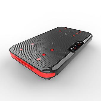 Plaque de vibration, 3D Slim Vibrating Power Machine, avec télécommande et bandes de résistance, 5 modes automatiques, 1-60 Réglage de vitesse, Moteur 400W