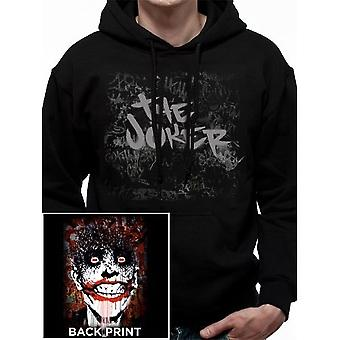 DC Comics Unisex Adults The Joker Arkham Design Pullover Hoodie