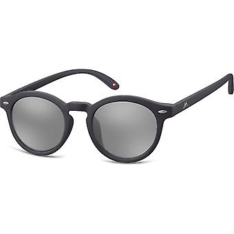 Sunglasses Unisex Mirror Disc matt black (MS28)