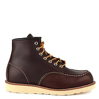 Red Wing 8138 Clássico 6 polegadas Moc Toe Boots Brown