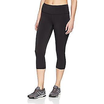 Essentials Women'Performance Mid-Rise Capri Active Legging, Negro, X-Small