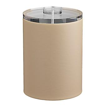 Contempo Beige 2Qt. Tall Ice Bucket With Thick Lucite, No Handle
