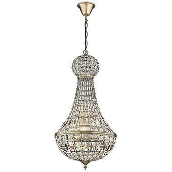 Chandelier 1 Light Antique Brass Finish, E27