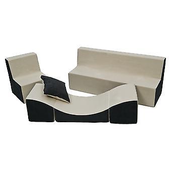 Schuim meubelset peuter compleet beige & grijs