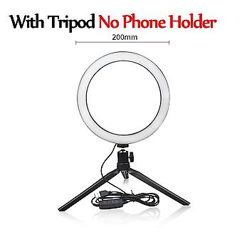 Led Light Selfie Ring Lamp Novelty Photography Video Live Studio Fill Photo Light For Smartphone