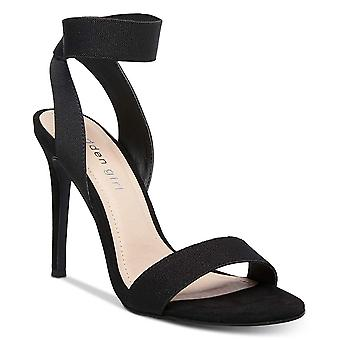 Madden Girl Women-apos;s Shoes Lonie Fabric Peep Toe Casual Ankle Strap Sandals