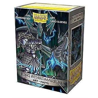 Dragon Shield King Athromark III 100ct Matowe rękawy z kartami artu CDU (10 jednostek)