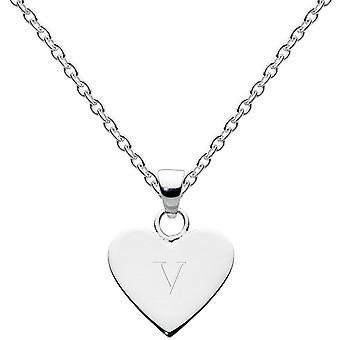 Dew Sterling Silver Dinky hjärta alfabetet hänge 9091HPV013