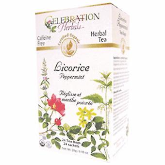 Celebration Herbals Organic Licorice Peppermint Tea, 24 Bags