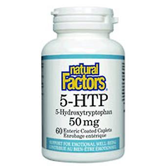 גורמים טבעיים 5-HTP, 50 מ ג, 60 Caplets