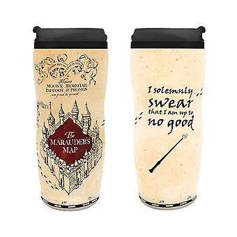 Harry Potter Travel Mug Marauders Map new Official 355ml Plastic