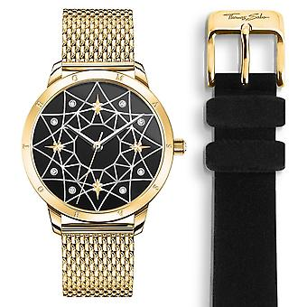 Thomas Sabo Watches LSpirit Cosmos Starry Sky Gold Watch SET _WA0373-275-203-33