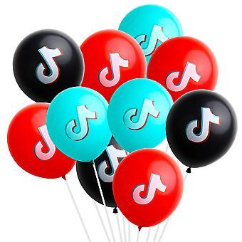 Tik Tok Tema Balon pentru ziua de nastere Petrecere Decorare (12inch)
