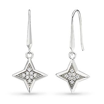 Kit Heath Empire Astoria Starburst Cubic Zirconia Star Drop Earrings 50412CZ