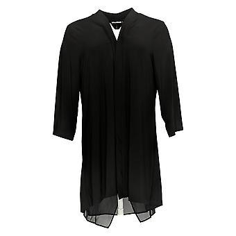 Nina Leonard Women's Sweater Cardigan W/ Back Zipper Black 703-537