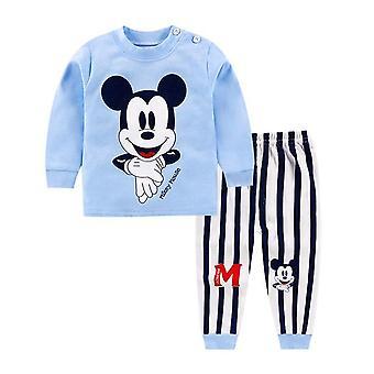 בגדי כותנה תינוקות עליון / מכנסיים, 2pcs תחתונים תלבושות סט בגדי ילדים