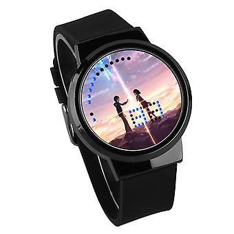 Waterproof Luminous LED Digital Touch Children watch  - Your Name #53
