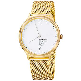 Mon helvetica no1 light watch for Swiss Quartz Analog Woman with MH1 stainless steel bracelet. L2211. Sm