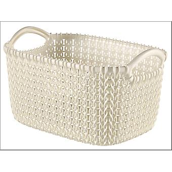Curver Knitted Basket Rectangular Oasis White 3L 229296