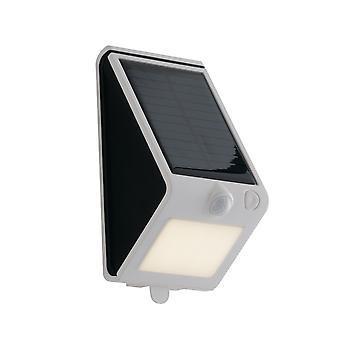 Fan Europe Open - Outdoor Solar Integrated LED Wall Light, White Black, IP54, 4000K