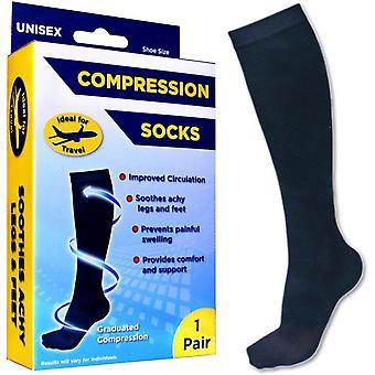 Unisex Support Trump Compression Sock Black 1-Par Str.44-47