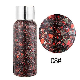 8 Colors Glitter Shiny Body Painting For Eye Shadow - Gel Cream ,face Shimmer