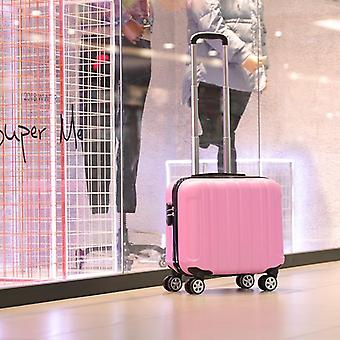 17 Inch Caster Small Suitcase Ladies, Mini Boarding Chassis Trolley Case
