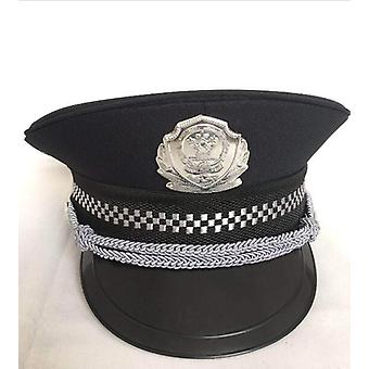 New Black Adults Police Cosplay Hat, Halloween Cosplay -lippis