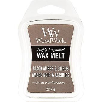 Woodwick Wax Melt - Black Amber & Citrus