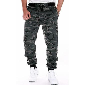 Camouflage Skateboarding Pants For Male, Mans Middle Waist Fitness Pants
