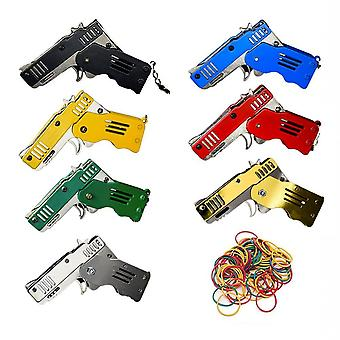 Mini Folding Bursts Rubber Band Gun Can Hold The Key Chain Made All Metal