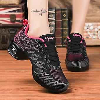 Flying Woven Mesh Comfortable Modern Jazz Dancing Shoes For Ladies