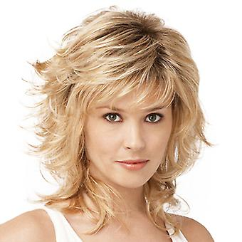 Brand Mall Wigs, Lace Wigs, Realistic Oblique Bangs Short Curly Hair