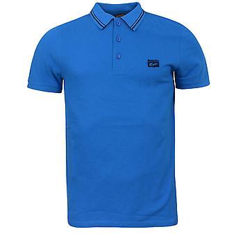 Onitsuka Tigers Casual Mens Short Sleeve Polo Shirt Blue 110982 0819 DD18
