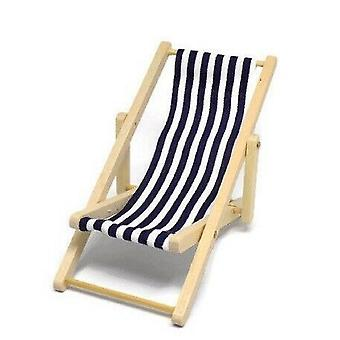 Nuket Talo Miniature Garden Beach Huonekalut Laivaston Sininen Raita Taittuva kansi tuoli