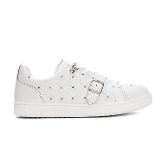 Trussardi Jeans Bianco White Buckle Sneakers