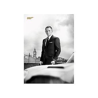 James Bond Bond & DB5 Skyfall Postcard