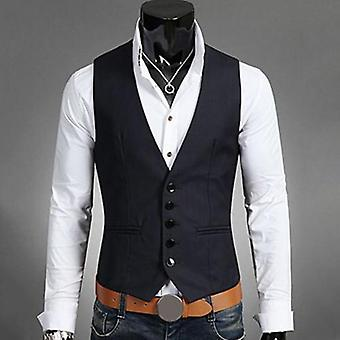 Dress Vests, Slims Fit, Male Waistcoat, Casual Sleeveless Formal Business