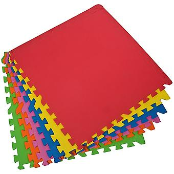 Pusselmatta Eva 6x60x1.0cm set 6 stks Enero mix färg