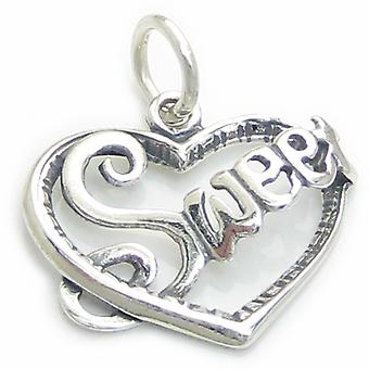 Sweet In Heart Sweetheart Sterling Silver Charm .925 X 1 Love Charms - 3212