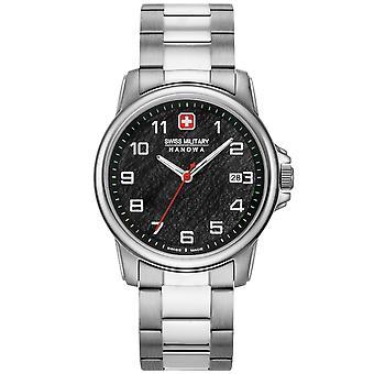 Reloj masculino militar suizo Hanowa 06-5231.7.04.007.10, cuarzo, 39 mm, 5ATM
