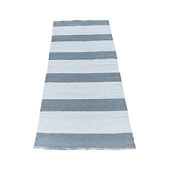 Spura Home megfordítható kék csíkos kortárs futó szőnyeg 2,5x6