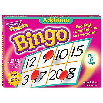 Gioco di bingo di addizione