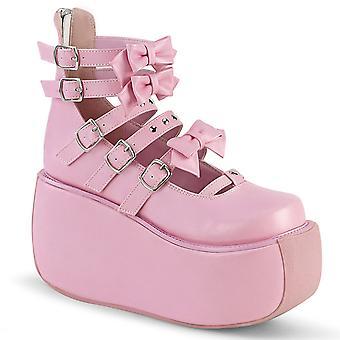 Demonia Women's Shoes VIOLET-45 B. Cuir végétalien rose