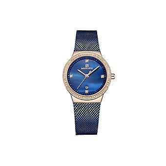 Naviforce Ladies Homage Quartz Watch Blue Rose Gold Dress Watches Fashion Designer