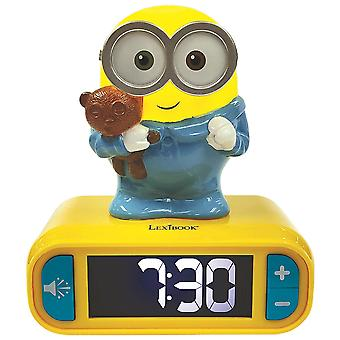 Lexibook RL800DES Despicable Me Minions Childrens Clock with Night Light