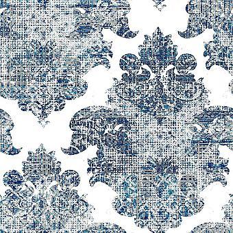 Ethnische Trends 11 Multicolor gedruckt Teppich aus Polyester, Baumwolle, L120xP180 cm
