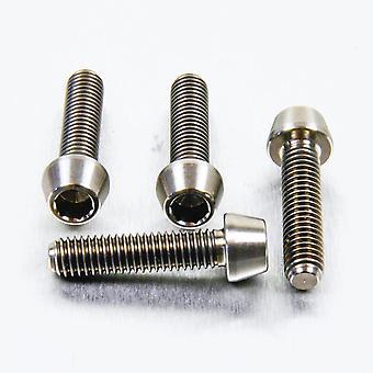 Pro perno titanio clip-on manillar barra pellizcar juego de perno (4 paquete) TICLIPBAR20