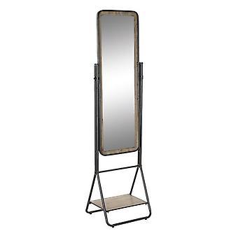 Vrijstaande spiegel DKD Home Decor Plank Metalen Spar (47 x 41 x 177 cm)